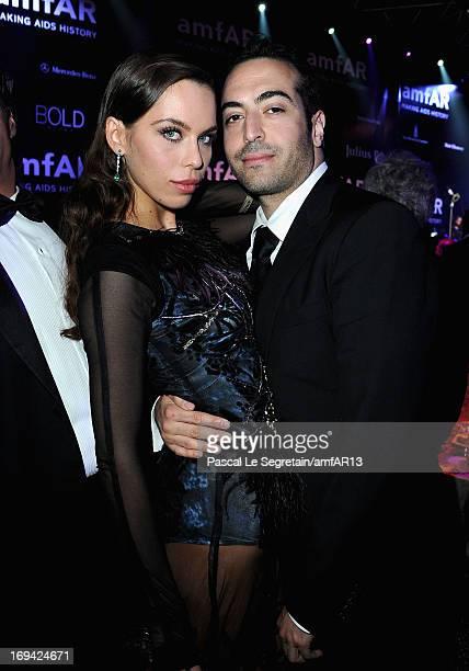 Liliana Matthaeus and Mohammed Al Turki attend amfAR's 20th Annual Cinema Against AIDS during The 66th Annual Cannes Film Festival at Hotel du...