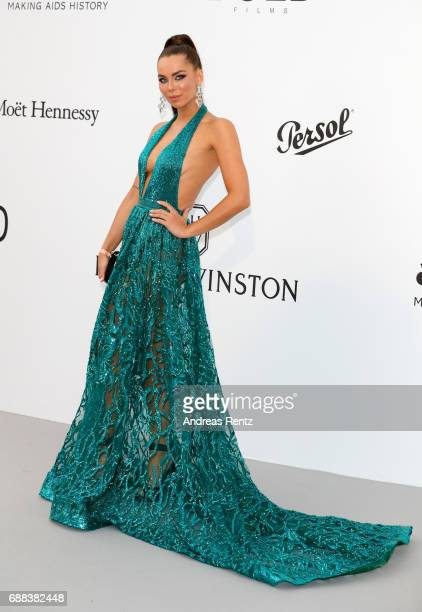 Liliana Matthaeus arrives at the amfAR Gala Cannes 2017 at Hotel du CapEdenRoc on May 25 2017 in Cap d'Antibes France