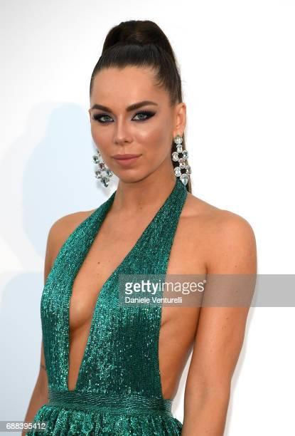 Liliana Matthaeus arrives at the amfAR Gala Cannes 2017 at Hotel du Cap-Eden-Roc on May 25, 2017 in Cap d'Antibes, France.