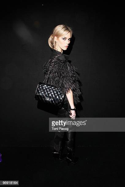 Liliana Matthaeus arrives at the Custo Barcelona Fashion Show during the MercedesBenz Fashion Week Berlin Autumn/Winter 2010 at the Bebelplatz on...