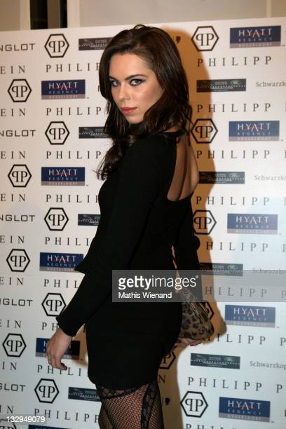 Liliana Matthaeus arrives on the red carpet at Grand Store Opening 'Philipp Plein' on November 15 2011 in Duesseldorf Germany