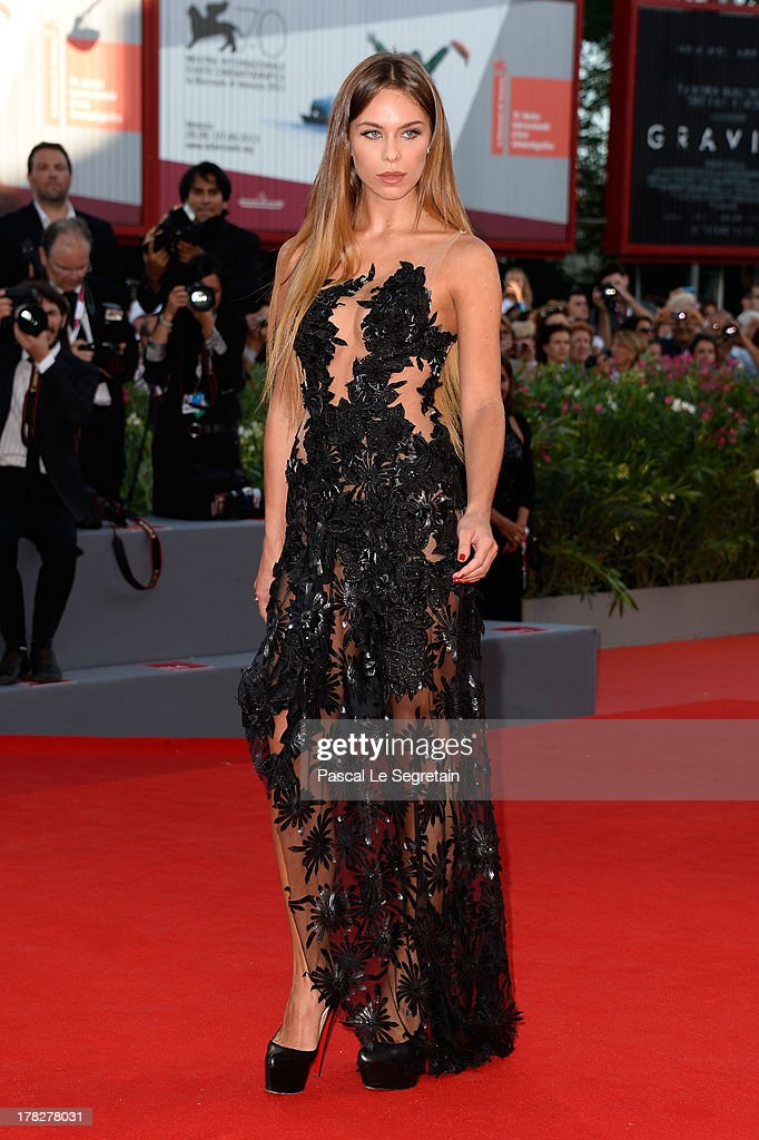 Liliana Matthaeus attends the Opening Ceremony And 'Gravity' Premiere during the 70th Venice International Film Festival at the Palazzo del Cinema on August 28, 2013 in Venice, Italy.