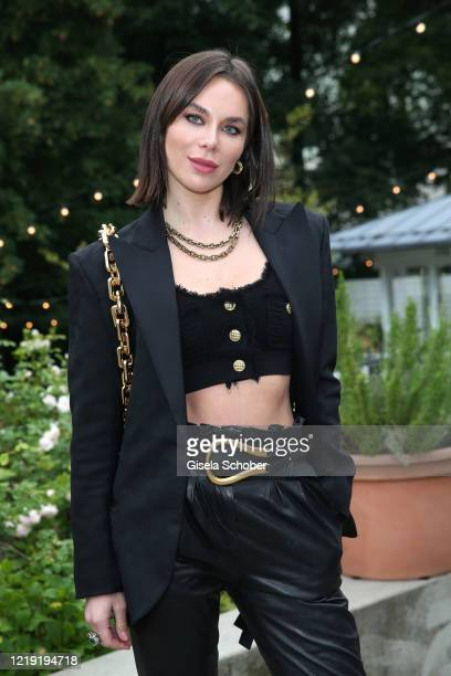 Liliana Matthaeus attends the reopening of the restaurant Kytaro at the Universitaets-Reitschule on June 10, 2020 in Munich, Germany.