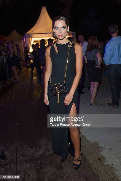 Liliana Matthaus attends the Guido Maria Kretschmer after show party during the MercedesBenz Fashion Week Spring/Summer 2015 at on July 9 2014 in...