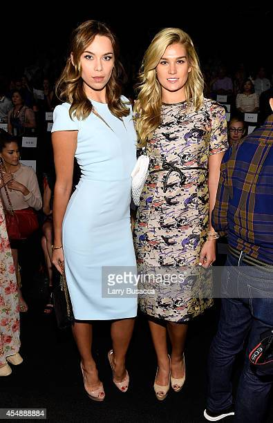 Liliana Nova and Shayna Taylor attend the Vivienne Tam fashion show during MercedesBenz Fashion Week Spring 2015 at The Theatre at Lincoln Center on...