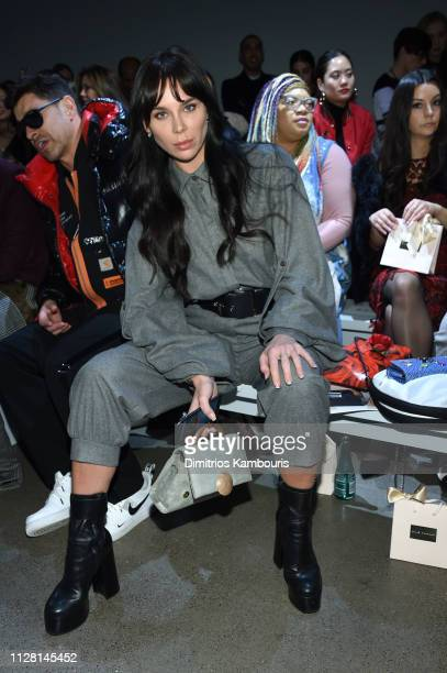 Liliana Nova attends the Elie Tahari Front Row during New York Fashion Week The Shows at Gallery II at Spring Studios on February 07 2019 in New York...