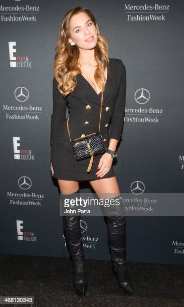 Liliana Nova is seen during MercedesBenz Fashion Week Fall 2014 at Lincoln Center for the Performing Arts on February 8 2014 in New York City