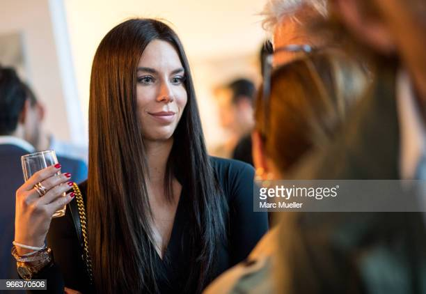 Liliana Nova is seen during the 'Selected A Portrait of Michael Groeger' Exhibition Opening at Andaz Salon on May 29 2018 in Munich Germany The...