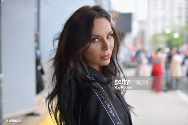 Liliana Nova poses for a street style portrait during New York Fashion Week The Shows at Spring Studios on September 11 2018 in New York City