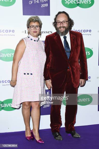 Liliana Orzac and Dave Myers attend the Specsavers 'Spectacle Wearer Of The Year' at 8 Northumberland Avenue on October 24 2018 in London United...
