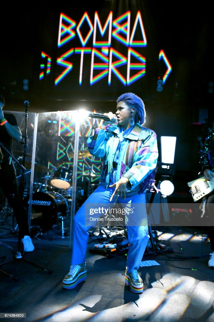 Liliana Saumet of Bomba Estereo performs onstage at Spotify Celebrates Latin Music and Their Viva Latino Playlist at Marquee Nightclub on November 14, 2017 in Las Vegas, Nevada.