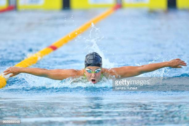 Liliana Szilagyi of Hungria 200m butterfly final A competes during the Open of France at l'Odyssee on July 8 2018 in Chartres France