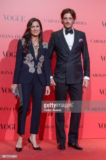 Liliana Yepes and Luis Medina attend Vogue 30th Anniversary Party at Casa Velazquez on July 12 2018 in Madrid Spain