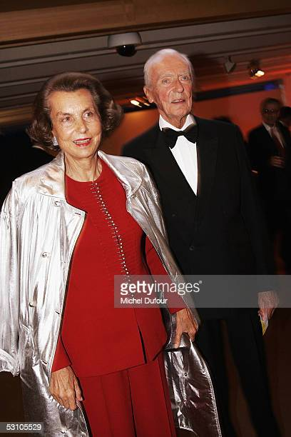 Liliane and Andre Bettencourt attend Le Concert de la Paix held to raise funds for The Weizmann Institute of Science who carry research into...