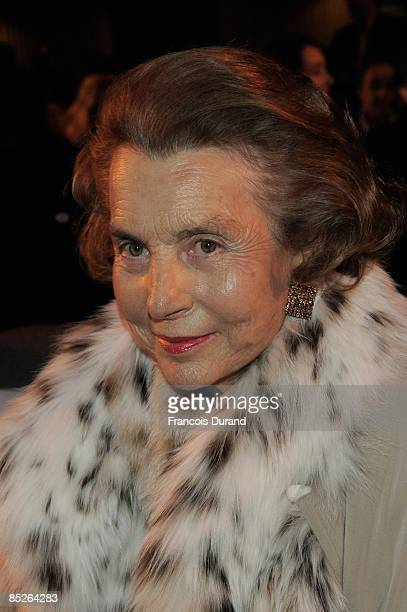 Liliane Bettencourt attends UNESCO and L'Oreal Awards for Women and Science on March 5 2009 in Paris France Fifteen women researchers from all over...
