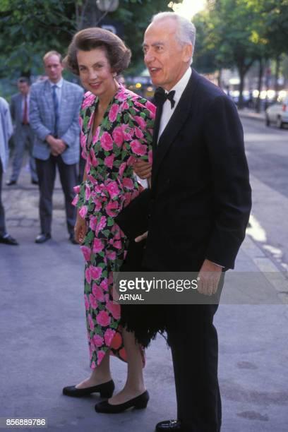 Liliane Bettencourt et son mari André Bettencourt le 19 juin 1989 à Paris France