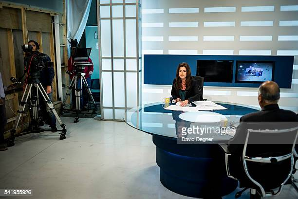 Liliane Daoud the host of a talk program at ONTV channel in Cairo Egypt