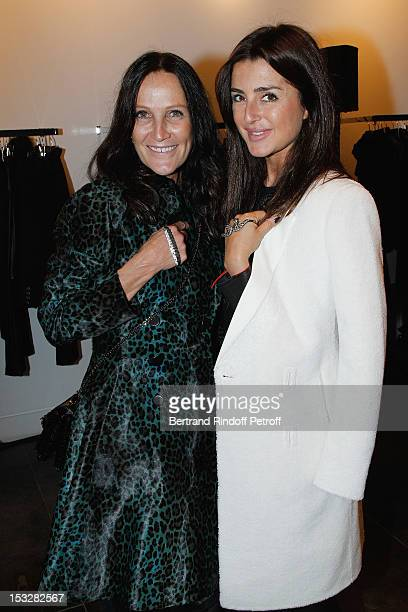 Liliane Jossua, Boutique Owner, and Katia Gaydamak attend the Buccellati Blossom Butterfly and Daisy new collection presentation with the 4th...
