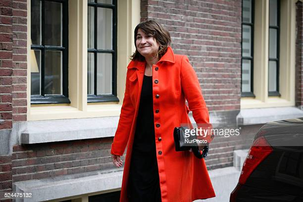 Lilianne Ploumen minister of foreign trade arrives at the Ministry of Foreign Affairs on December 5 2014 in The Hague Netherlands Every week on...