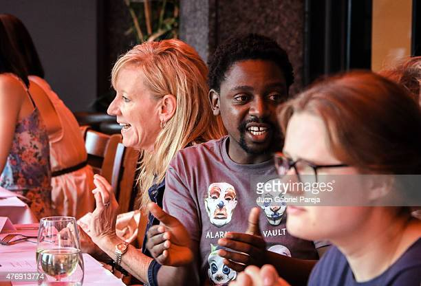 Lilibet Foster, Tswarelo Mothobe and Sofia Geveyler attend the AFS Luncheon during the 2015 Los Angeles Film Festival at Casa Nostra on June 11, 2015...