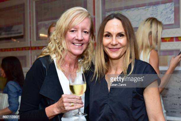 Lilieet Foster and Lynn Fischer attend the launch of The Collector Geneva's Sophie Bonvin Code Collection in Collaboration with artist Bill Claps at...