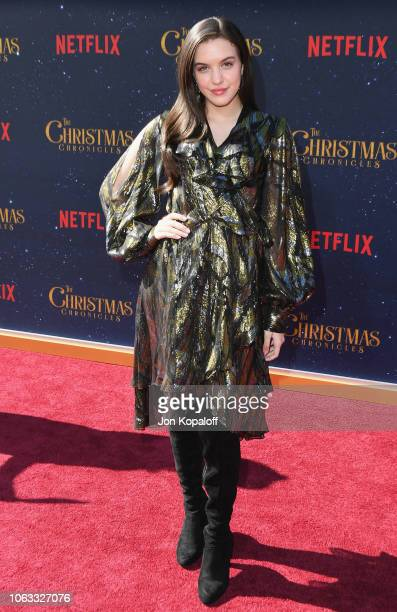 Lilimar attends the premiere of Netflix's The Christmas Chronicles at Fox Bruin Theater on November 18 2018 in Los Angeles California