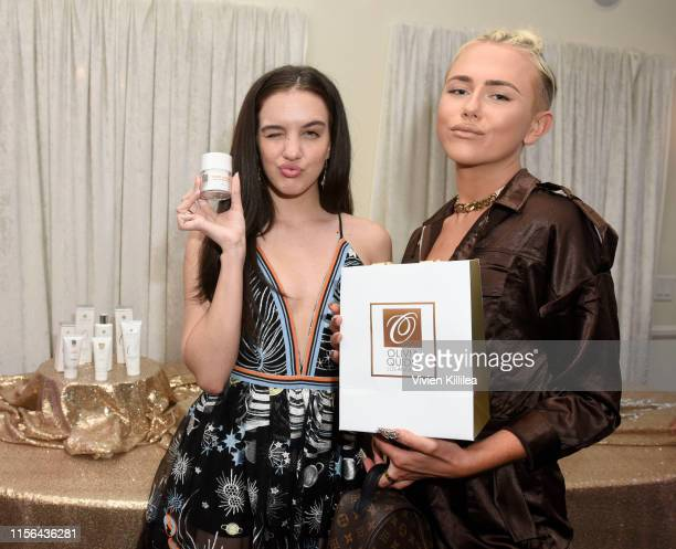 Lilimar Hernandez and Matt Sarafa attend O Skin Care Event on July 18 2019 in Los Angeles California