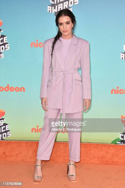 Lilimar Hernandez attends Nickelodeon's 2019 Kids' Choice Awards at Galen Center on March 23 2019 in Los Angeles California