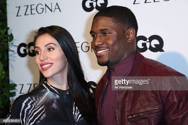 Lilit Avagyan and Athlete Reggie Bush arrive at Z Zegna GQ Celebrate The New Z Zegna Collection Hosted By Nick Jonas at Philymack Studios on February...
