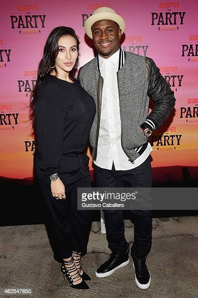 Lilit Avagyan and NFL player Reggie Bush attend ESPN the Party at WestWorld of Scottsdale on January 30, 2015 in Scottsdale, Arizona.