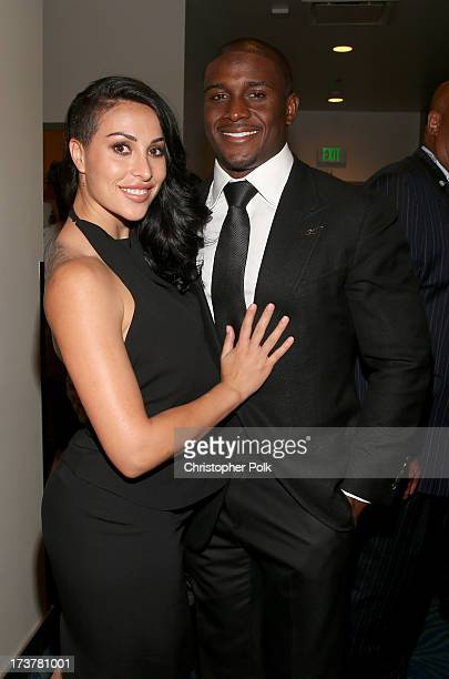 Lilit Avagyan and NFL player Reggie Bush attend The 2013 ESPY Awards at Nokia Theatre L.A. Live on July 17, 2013 in Los Angeles, California.