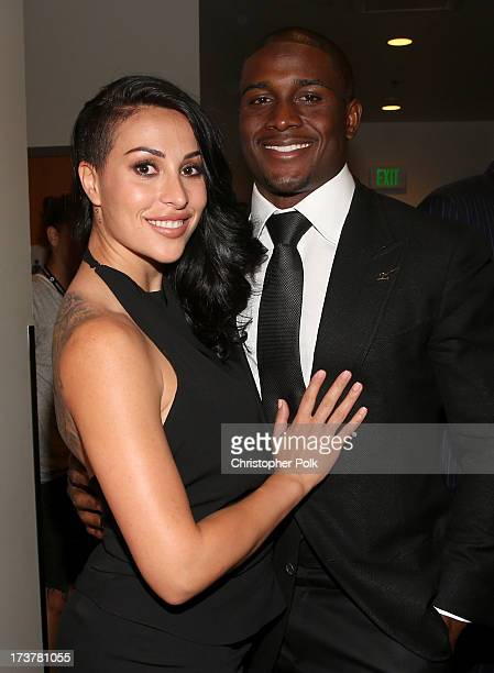 Lilit Avagyan and NFL player Reggie Bush attend The 2013 ESPY Awards at Nokia Theatre LA Live on July 17 2013 in Los Angeles California