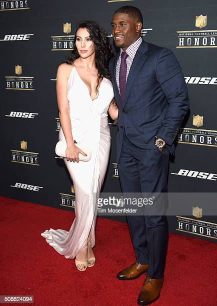 Lilit Avagyan and NFL player Reggie Bush attend the 5th Annual NFL Honors at Bill Graham Civic Auditorium on February 6 2016 in San Francisco...