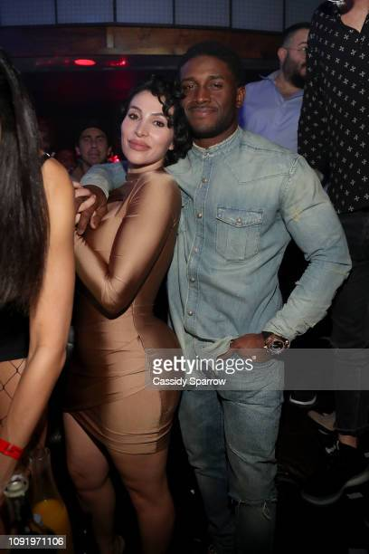 Lilit Avagyan and Reggie Bush attend TAO group's Big Game Takeover presented by Tongue Groove on January 31 2019 in Atlanta Georgia