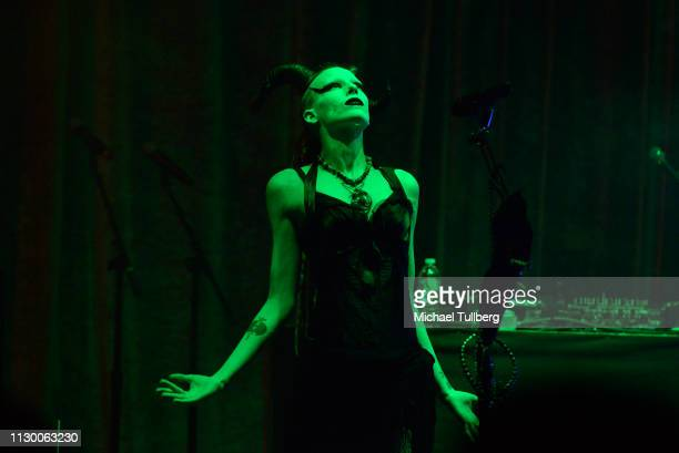 Lilith Bathory of Luna 13 performs at The Regent Theatre on February 15 2019 in Los Angeles California