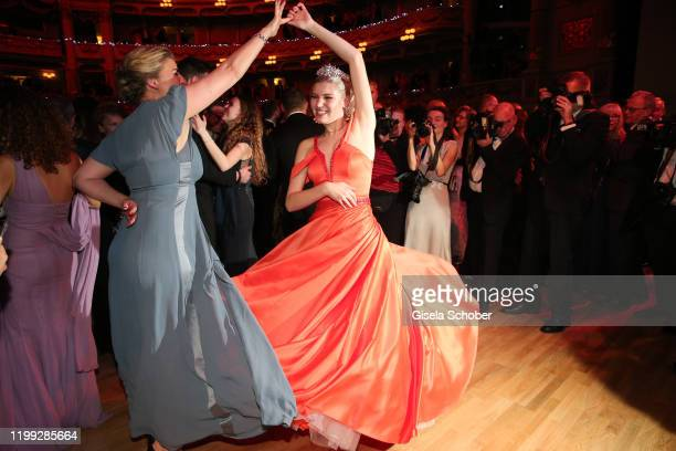 Lilith Becker and her mother Anne Seidel during the 15th Semper Opera Ball 2020 at Semperoper on February 7 2020 in Dresden Germany