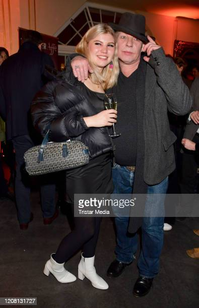 Lilith Becker Ben Becker during the Ben Becker Affe party at Admiralspalast on February 18 2020 in Berlin Germany