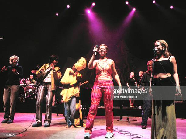 Lilith Fair 1998 finale with Sarah McLachlan Indigo Girls Erykah Badu and others at Shoreline Amphitheater in Mountain View Calif on June 24th 1998...