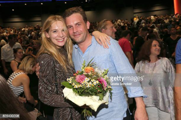 Lilith Stangenberg and Sebastian Bezzel during the 'Griessnockerlaffaere' premiere at Mathaeser Filmpalast on August 1 2017 in Munich Germany
