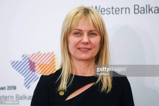 Liliya Ivanova Bulgarian Deputy Minister of Economy during Western Balkans Summit at the Poznan International Fair in Poznan Poland on 4 July 2019