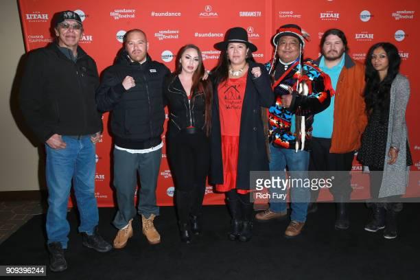 Liljana Adams Cody Lucich Kanahus Manuel Dan Nanamkin Mark Tilsen and Gingger Shankar attend the 'Akicita The Battle Of Standing Rock' Premiere...