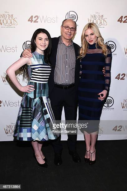 """Lilla Crawford James Lapine and Mackenzie Mauzy attend Disney's Musical Birthday Tribute to Stephen Sondheim in celebration of """"Into the Woods""""..."""
