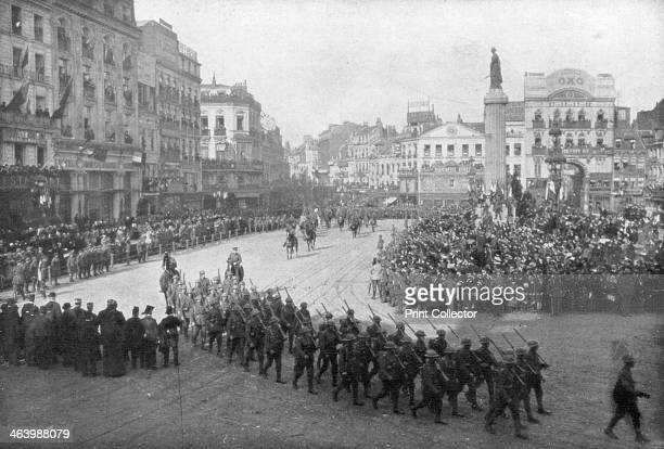 Lille being liberated by the British 5th Army France 17 October 1918 General Sir William Birdwood and his troops were welcomed by joyous crowds as...