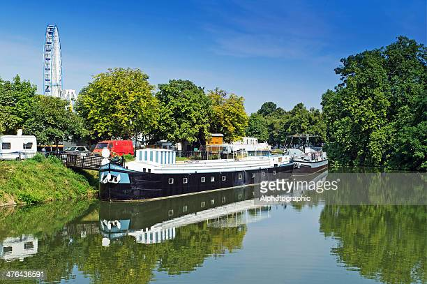 lille canal beside the citadel park - lille stock pictures, royalty-free photos & images