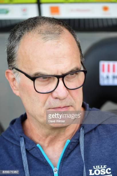 Lille coach Marcelo Bielsa during the Ligue 1 match between Angers SCO and Lille OSC at Stade Raymond Kopa on August 27 2017 in Angers