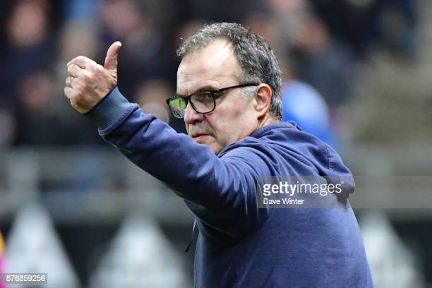 Lille coach Marcelo Bielsa during the rescheduled Ligue 1 match between Amiens SC and Lille OSC at Stade de la Licorne on November 20 2017 in Amiens...