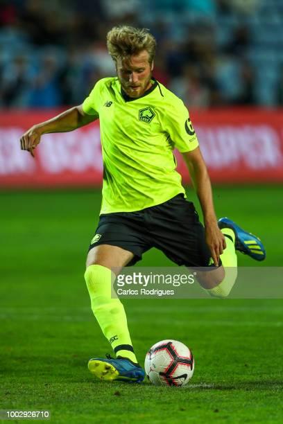 Lille defender Ruben Droehlne kicks the ball during the match between FC Porto v LOSC Lille for Algarve Football Cup 2018 at Estadio do Algarve on...