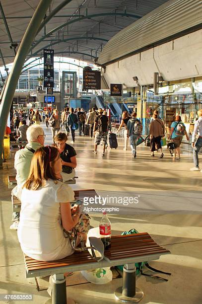 lille eurostar terminal departures - hertz stock pictures, royalty-free photos & images