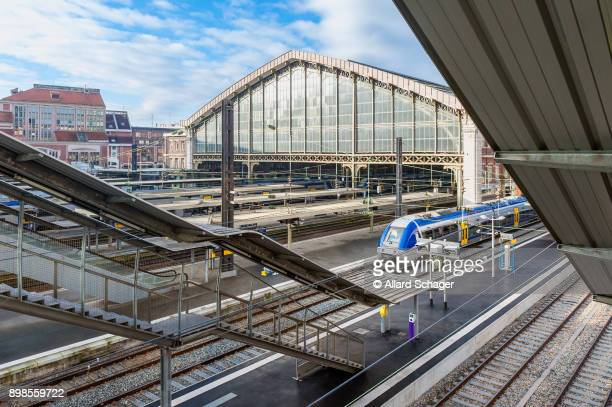 lille flandres railway station france - hauts de france stock photos and pictures