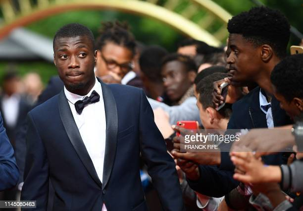 Lille forward Nicolas Pepe arrives to take part in a TV show on May 19 2019 in Paris as part of the 28th edition of the UNFP trophy ceremony